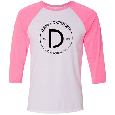 Dignified CrossFit - 100 - Standard - Bella + Canvas - Men's Three-Quarter Sleeve Baseball T-Shirt