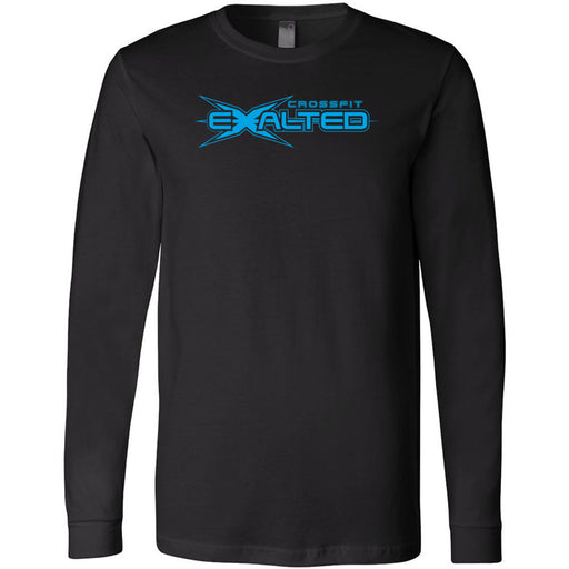 CrossFit Exalted - 100 - Blue - Bella + Canvas 3501 - Men's Long Sleeve Jersey Tee