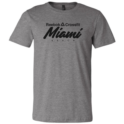 Reebok CrossFit Miami Beach - 100 - Black - Bella + Canvas - Men's Short Sleeve Jersey Tee