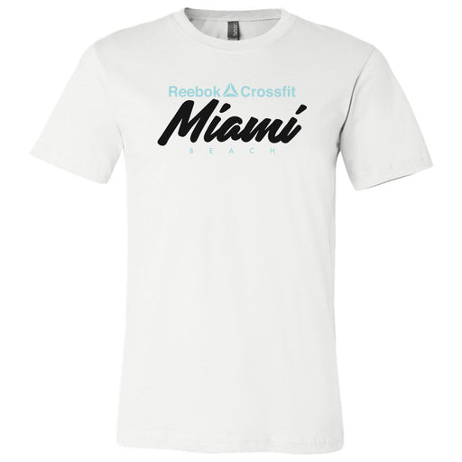 Reebok CrossFit Miami Beach - 100 - Standard - Bella + Canvas - Men's Short Sleeve Jersey Tee