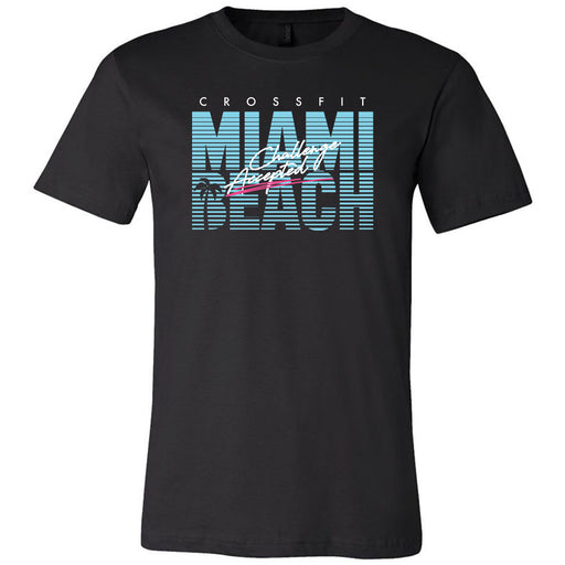 Reebok CrossFit Miami Beach - 100 - Challenge - Bella + Canvas - Men's Short Sleeve Jersey Tee