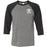 CrossFit Passaic Valley - 100 - Pocket - Bella + Canvas - Men's Three-Quarter Sleeve Baseball T-Shirt