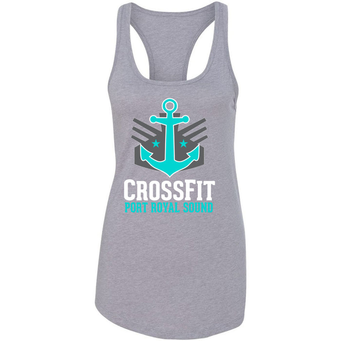 CrossFit Port Royal Sound - 100 - Stacked - Next Level - Women's Ideal Racerback Tank