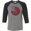 3 Star CrossFit - 100 - Standard - Bella + Canvas - Men's Three-Quarter Sleeve Baseball T-Shirt