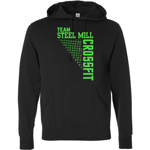 Steel Mill CrossFit Fleming Island - 201 - Green - Independent - Hooded Pullover Sweatshirt