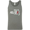 CrossFit Route 3 - 100 - Red - Bella + Canvas - Men's Jersey Tank