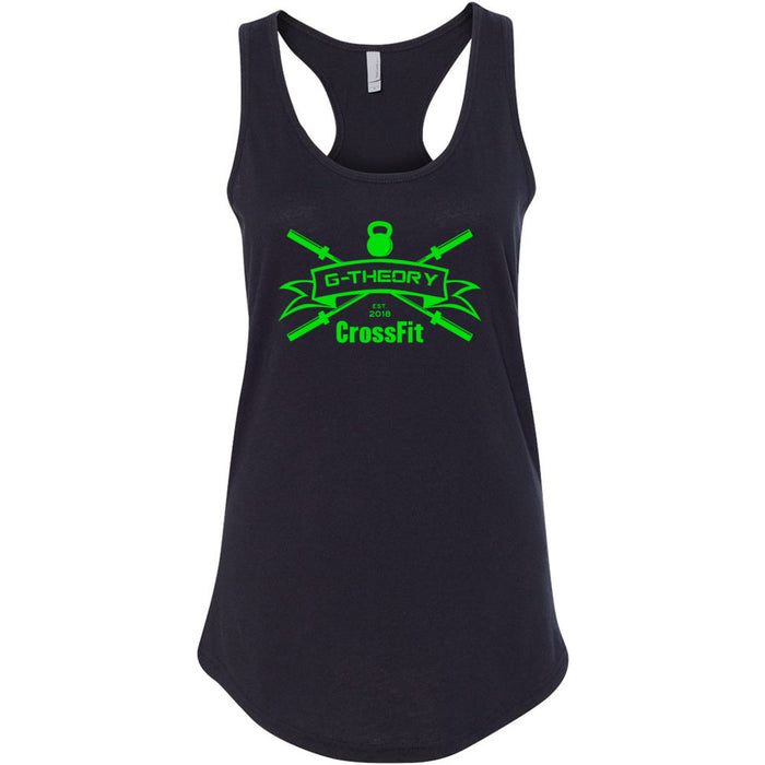 G-Theory CrossFit - 100 - Standard Green - Next Level - Women's Ideal Racerback Tank