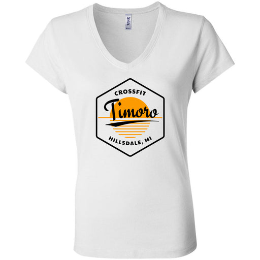 CrossFit Timoro - 100 - AA2 Paradise - Bella + Canvas - Women's Short Sleeve Jersey V-Neck Tee