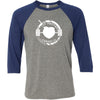 Fat Bottom CrossFit - 100 - One Color - Bella + Canvas - Men's Three-Quarter Sleeve Baseball T-Shirt