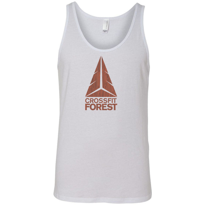 CrossFit Forest - 100 - Wood Grain - Bella + Canvas - Men's Jersey Tank