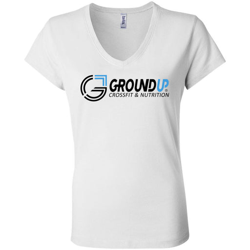 CrossFit Ground Up - 100 - Standard - Bella + Canvas - Women's Short Sleeve Jersey V-Neck Tee