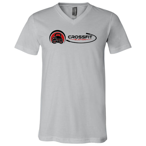 CrossFit Elation - 100 - Two Color - Bella + Canvas - Men's Short Sleeve V-Neck Jersey Tee