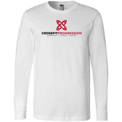 CrossFit Progression - 100 - Standard - Bella + Canvas 3501 - Men's Long Sleeve Jersey Tee