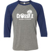 CrossFit Poipu - 100 - Standard - Bella + Canvas - Men's Three-Quarter Sleeve Baseball T-Shirt