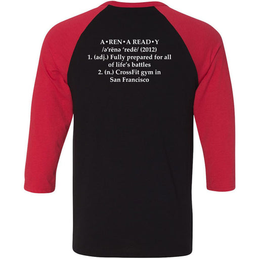 Arena Ready CrossFit - 202 - Definition - Bella + Canvas - Men's Three-Quarter Sleeve Baseball T-Shirt