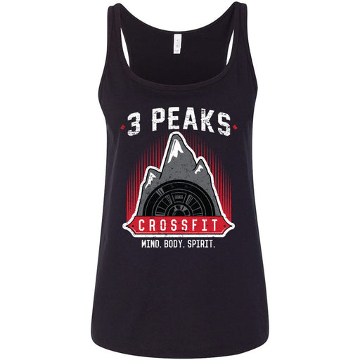 3 Peak CrossFit - 100 - Stacked - Bella + Canvas - Women's Relaxed Jersey Tank