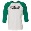 GTS CrossFit - 100 - One Color - Bella + Canvas - Men's Three-Quarter Sleeve Baseball T-Shirt