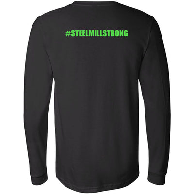 Steel Mill CrossFit Fleming Island - 202 - Green - Bella + Canvas 3501 - Men's Long Sleeve Jersey Tee