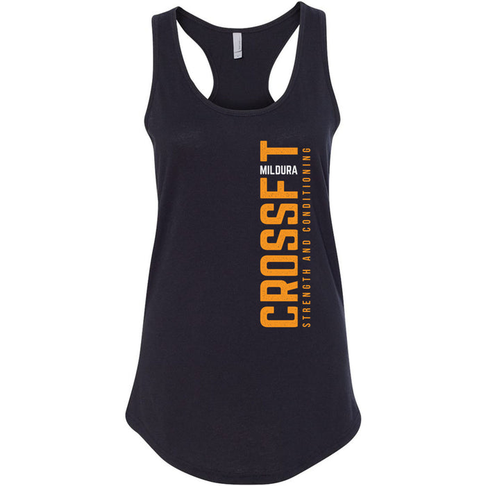 CrossFit Mildura - 100 - Blackout - Next Level - Women's Ideal Racerback Tank