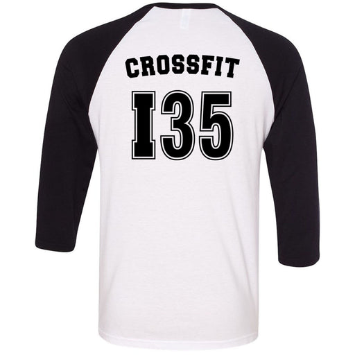 CrossFit I35 - 202 - Athletic - Bella + Canvas - Men's Three-Quarter Sleeve Baseball T-Shirt