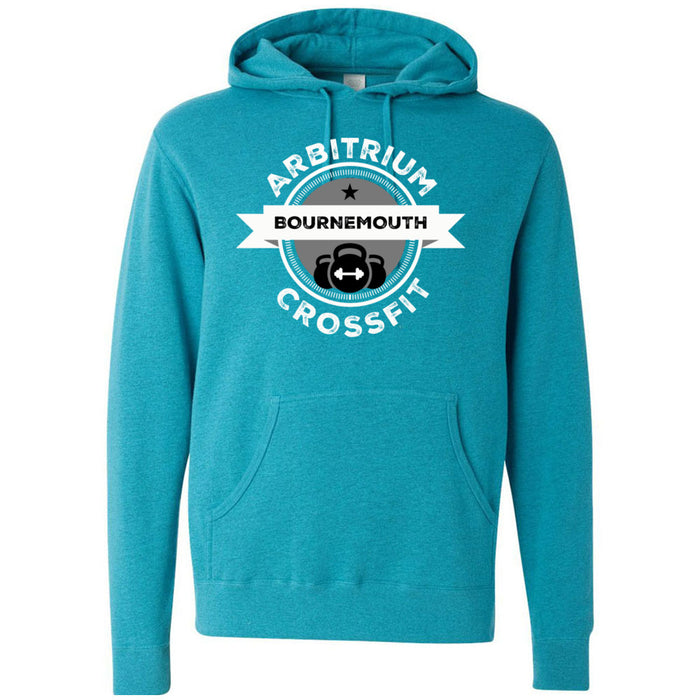 Arbitrium CrossFit - 100 - Black and White - Independent - Hooded Pullover Sweatshirt