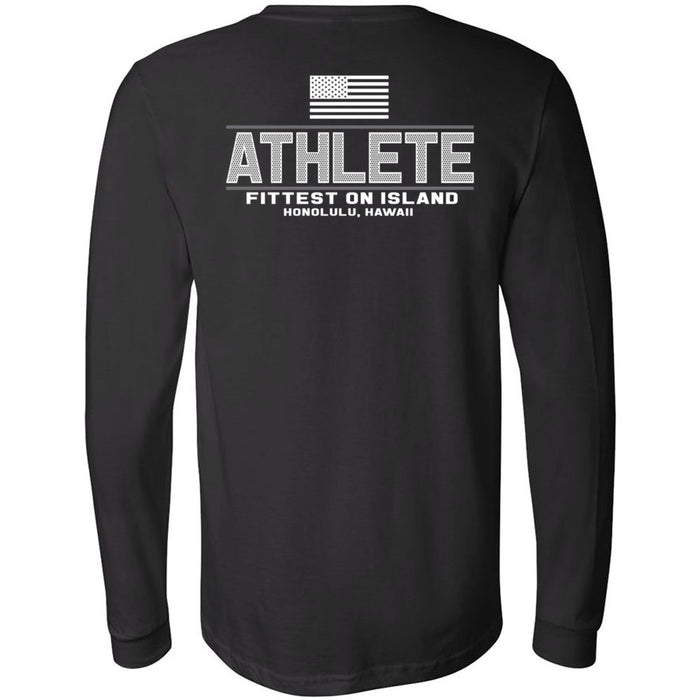 CrossFit Oahu - 202 - Pearl City Gray - Bella + Canvas 3501 - Men's Long Sleeve Jersey Tee
