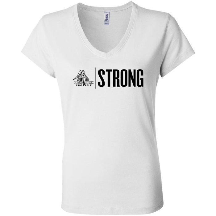 Grand Trunk CrossFit - 100 - Strong - Bella + Canvas - Women's Short Sleeve Jersey V-Neck Tee