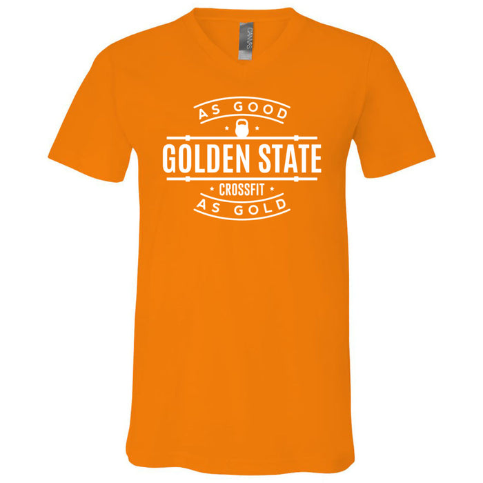 Golden State CrossFit - 100 - As Good As Gold - Bella + Canvas - Men's Short Sleeve V-Neck Jersey Tee