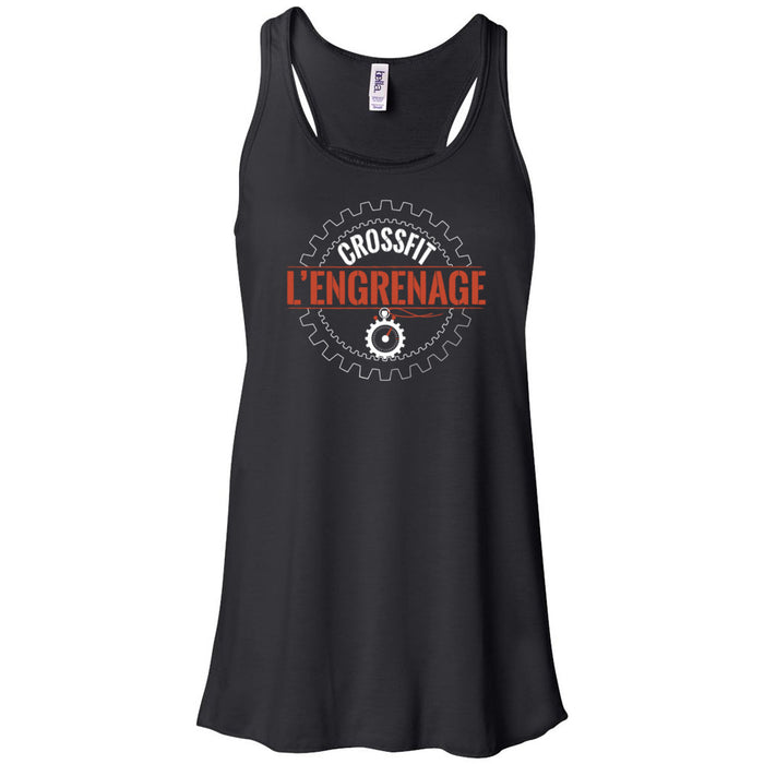 CrossFit L'Engrenage - 100 - Orange - Bella + Canvas - Women's Flowy Racerback Tank