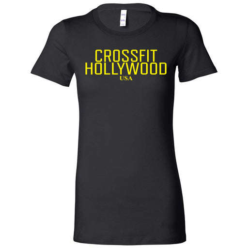 CrossFit Hollywood - 200 - Yellow - Bella + Canvas - Women's The Favorite Tee