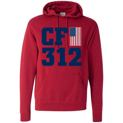 CrossFit 312 - 201 - Murph Red - Independent - Hooded Pullover Sweatshirt
