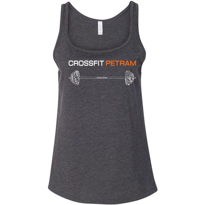 CrossFit Petram - 100 - Barbell - Bella + Canvas - Women's Relaxed Jersey Tank