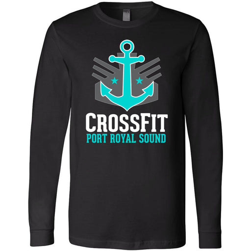 CrossFit Port Royal Sound - 100 - Stacked - Bella + Canvas 3501 - Men's Long Sleeve Jersey Tee