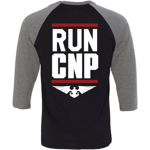 CrossFit North Phoenix - 202 - Run CNP - Bella + Canvas - Men's Three-Quarter Sleeve Baseball T-Shirt