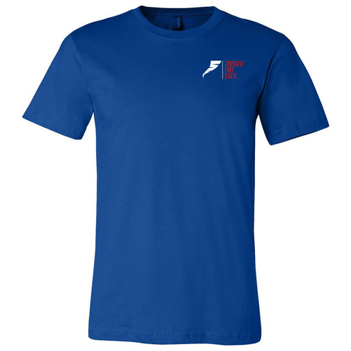 CrossFit Free State - 100 - Pocket - Bella + Canvas - Men's Short Sleeve Jersey Tee