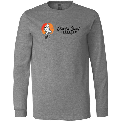Chiseled Spirit CrossFit - 100 - Horizontal - Bella + Canvas 3501 - Men's Long Sleeve Jersey Tee