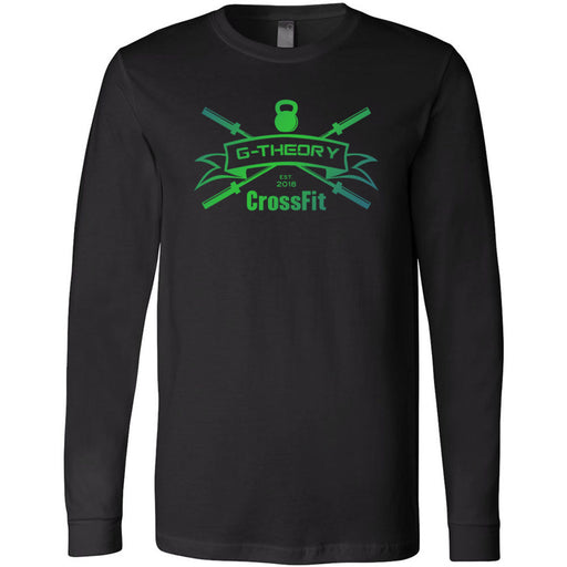 G-Theory CrossFit - 100 - Standard Gradient - Bella + Canvas 3501 - Men's Long Sleeve Jersey Tee