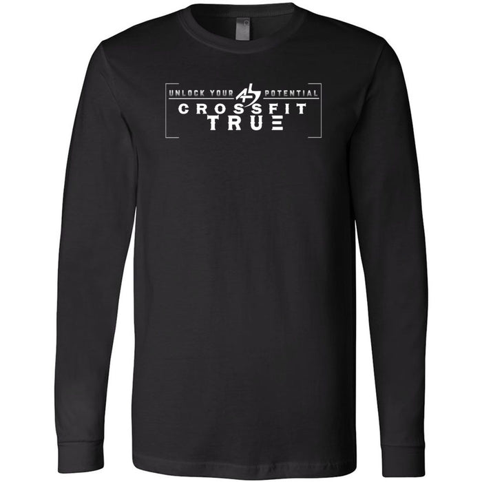 CrossFit True - 100 - Unlock Your Potential - Bella + Canvas 3501 - Men's Long Sleeve Jersey Tee