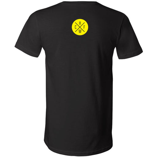 CrossFit Hollywood - 200 - Yellow - Bella + Canvas - Men's Short Sleeve V-Neck Jersey Tee