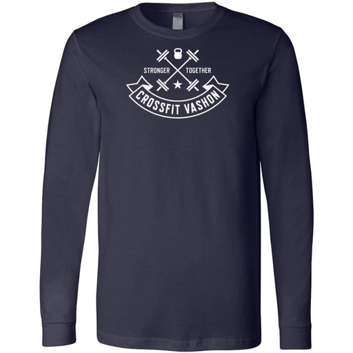 CrossFit Vashon - 100 - One Color - Bella + Canvas 3501 - Men's Long Sleeve Jersey Tee