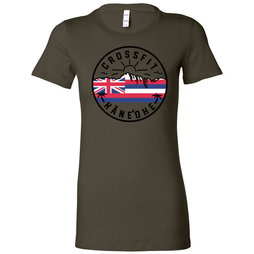CrossFit Kaneohe - 100 - Flag - Bella + Canvas - Women's The Favorite Tee