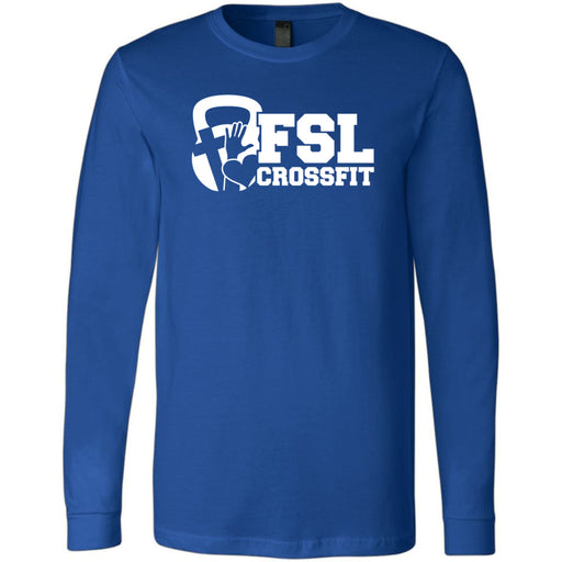 FSL CrossFit - 100 - White - Bella + Canvas 3501 - Men's Long Sleeve Jersey Tee