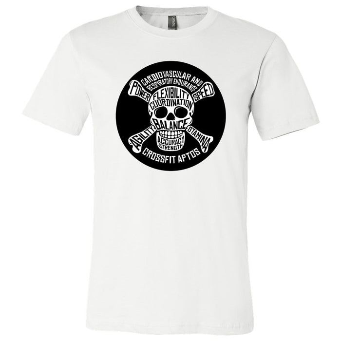 CrossFit Aptos - 100 - Skull - Bella + Canvas - Men's Short Sleeve Jersey Tee