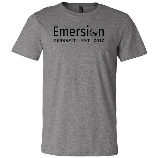 Emersion CrossFit - 100 - Black - Bella + Canvas - Men's Short Sleeve Jersey Tee