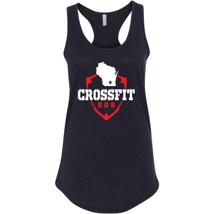 CrossFit 608 - 100 - Standard - Next Level - Women's Ideal Racerback Tank
