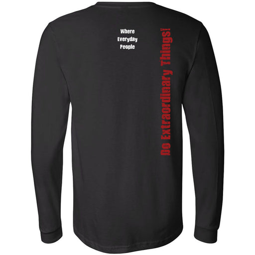 CrossFit North Phoenix - 202 - Eagle Distressed - Bella + Canvas 3501 - Men's Long Sleeve Jersey Tee