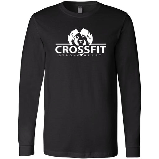 CrossFit Strong Heart - 100 - One Color - Bella + Canvas 3501 - Men's Long Sleeve Jersey Tee