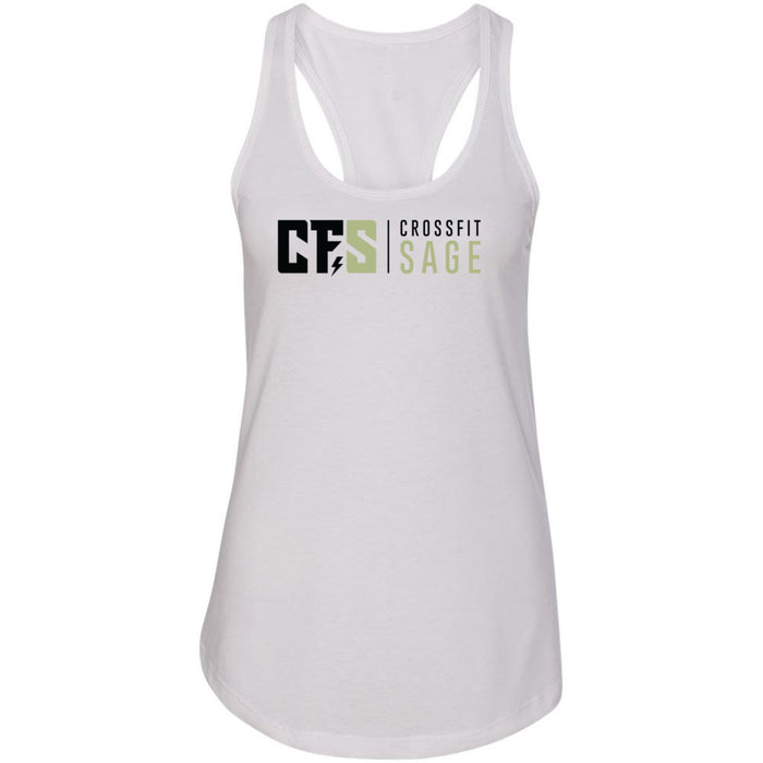 CrossFit Sage - 100 - Stacked - Next Level - Women's Ideal Racerback Tank