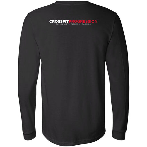 CrossFit Progression - 202 - Icon - Bella + Canvas 3501 - Men's Long Sleeve Jersey Tee
