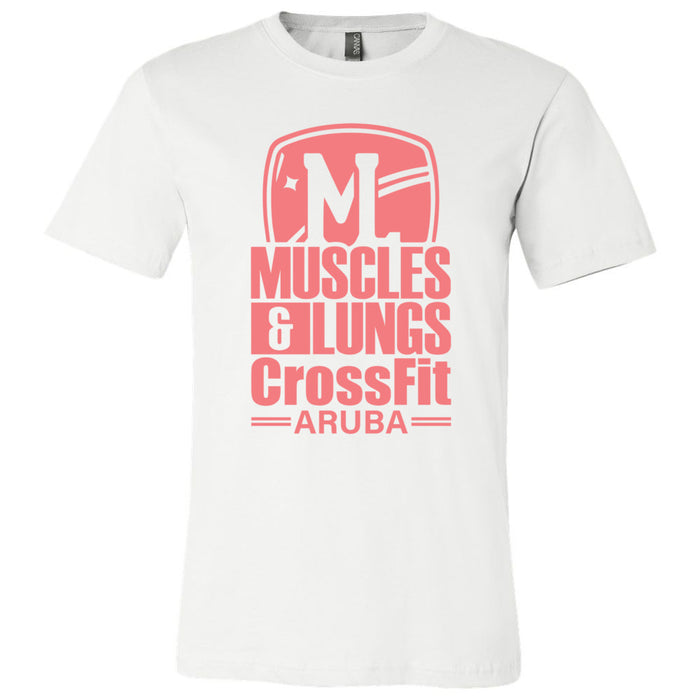 Muscles & Lungs CrossFit - 100 - Peach - Bella + Canvas - Men's Short Sleeve Jersey Tee